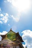 在日本的大阪城堡 库存照片