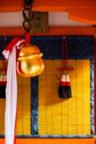 在日本的红色torii 库存图片