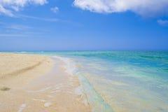 在日本的美丽的海滩 免版税图库摄影