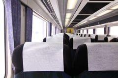 在日本铁路里面 库存图片