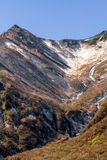 在日本阿尔卑斯的冬天雪 免版税图库摄影