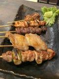 在日本风格的烤鸡 库存照片