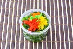 在日本食物样式的海草沙拉 库存图片