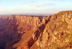 在日落之前的大峡谷 库存照片