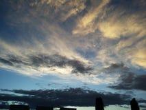 在日落之前 库存图片