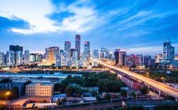 在日落以后的北京 免版税库存图片