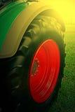 在日落光的农业设备 细节27 免版税库存图片