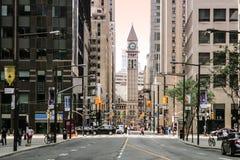 在日落前在街市多伦多 免版税库存图片