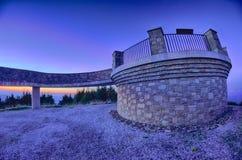 在日落前的顶面登上米歇尔 免版税库存照片