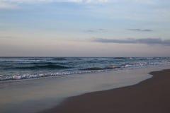 在日落前的Wrightsville海滩 免版税图库摄影