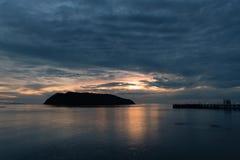 在日落时间的暮色场面 免版税图库摄影