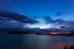 在日落时间的暮色场面 库存照片