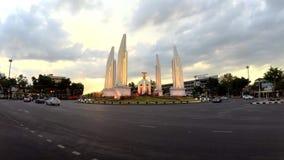 在日落时间的民主纪念碑 影视素材