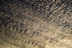 在日落期间的卷积云 库存图片