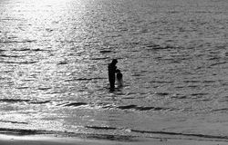 在日落期间的捕鱼网,泰国 免版税库存照片