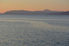 在日落期间的茨雷斯岛 免版税图库摄影