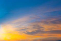 在日落期间的Cloudscape 图库摄影