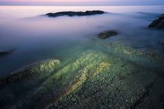 在日落的云彩,中国 免版税图库摄影