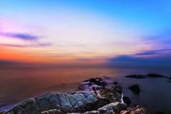在日落的云彩,中国 免版税库存照片