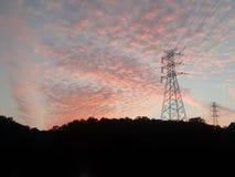 在日落的云彩 免版税图库摄影