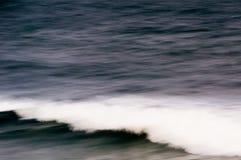在日落的全景海景 免版税库存图片