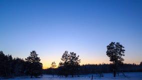 在日落的冬天横向 时间间隔 4K 影视素材