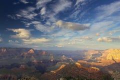 在日落的大峡谷 库存照片