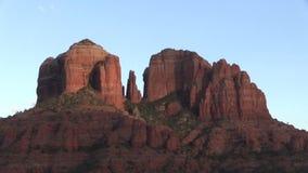 在日落的大教堂岩石 免版税库存图片