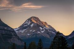 在日落的天堂峰顶 库存图片