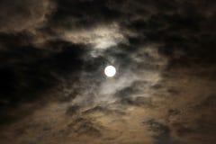 在日落的天空 免版税图库摄影