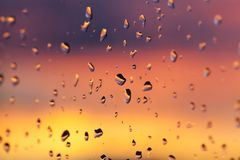 在日落的天空 库存照片