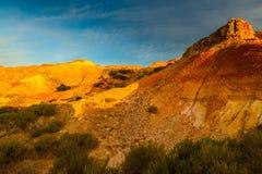 在日落的峡谷风景 库存图片