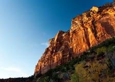 在日落的峡谷 库存图片