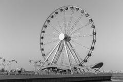 在日落的弗累斯大转轮 库存照片