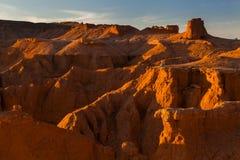 在日落的惊人的风景 免版税图库摄影