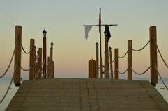 在日落的散步 免版税库存照片