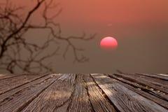 在日落的晚上 免版税库存照片
