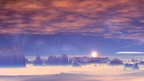 在日落的桃红色云彩 影视素材