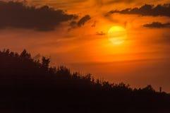 在日落的横向 免版税库存照片