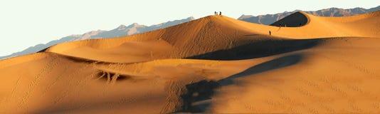 在日落的沙丘在Death Valley国家公园 库存照片