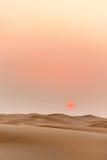在日落的沙漠风景 免版税库存图片