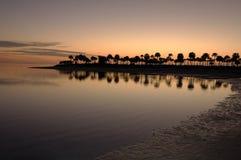 在日落的海湾墨西哥 库存图片
