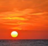 在日落的海湾墨西哥 免版税库存图片