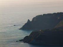 在日落的海湾 免版税库存照片