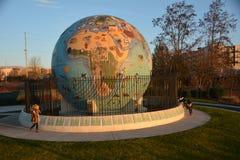 在日落的海滨公园地球在萨利姆,俄勒冈 免版税库存图片
