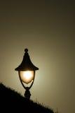在日落的灯光 免版税库存图片