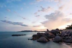 在日落的盛大父亲岩石,酸值的主要旅游胜地 库存照片