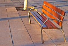 在日落的空座位 免版税库存图片