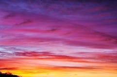 在日落的美丽的天空 免版税库存照片