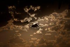 在日落的美妙的cloudscape 免版税库存照片